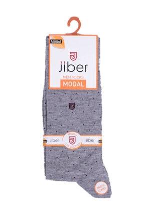 Jiber Kadın Gri Modal Çorap 5108