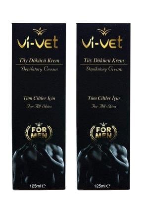Vi-Vet 2 Adet  Tüy Dökücü Krem For Men 125 ml.