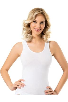 Namaldi 12 Adet Beyaz Renk Kalın Askılı Atlet Kadın