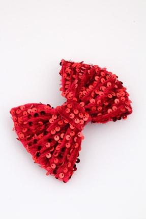 Pelin Aksesuar Kırmızı Pullu Otomatik Fiyonk Toka