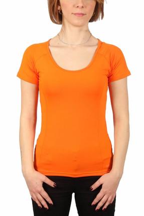 Sportive Kadın Bisiklet Yaka Turuncu Tişört - 400215-ORG