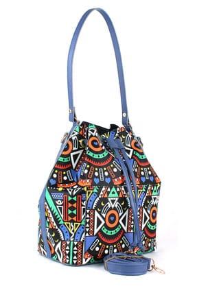 Housebags Siyah Çok Renkli Mavi Kadın Omuz Çantası  974-1