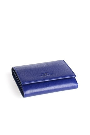 Deriderim Cgn-2108 Mavi Kadın Deri Cüzdan