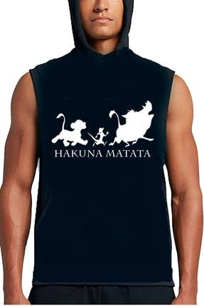 Art T-shirt Hakuna Matata Unisex Sleeveless Hoodies  -  ARTRND02679M