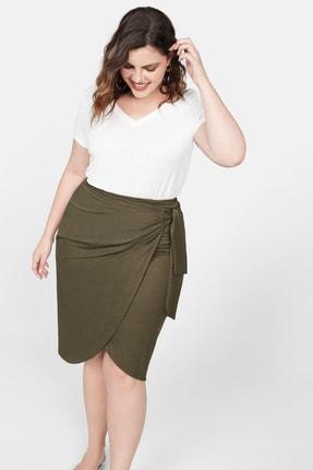 Mango Kadın Kırık Beyaz Lastikli V Yakalı Tişört 53060551