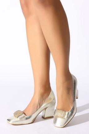 Rovigo Altın Kadın Klasik Topuklu Ayakkabı 0386862-04