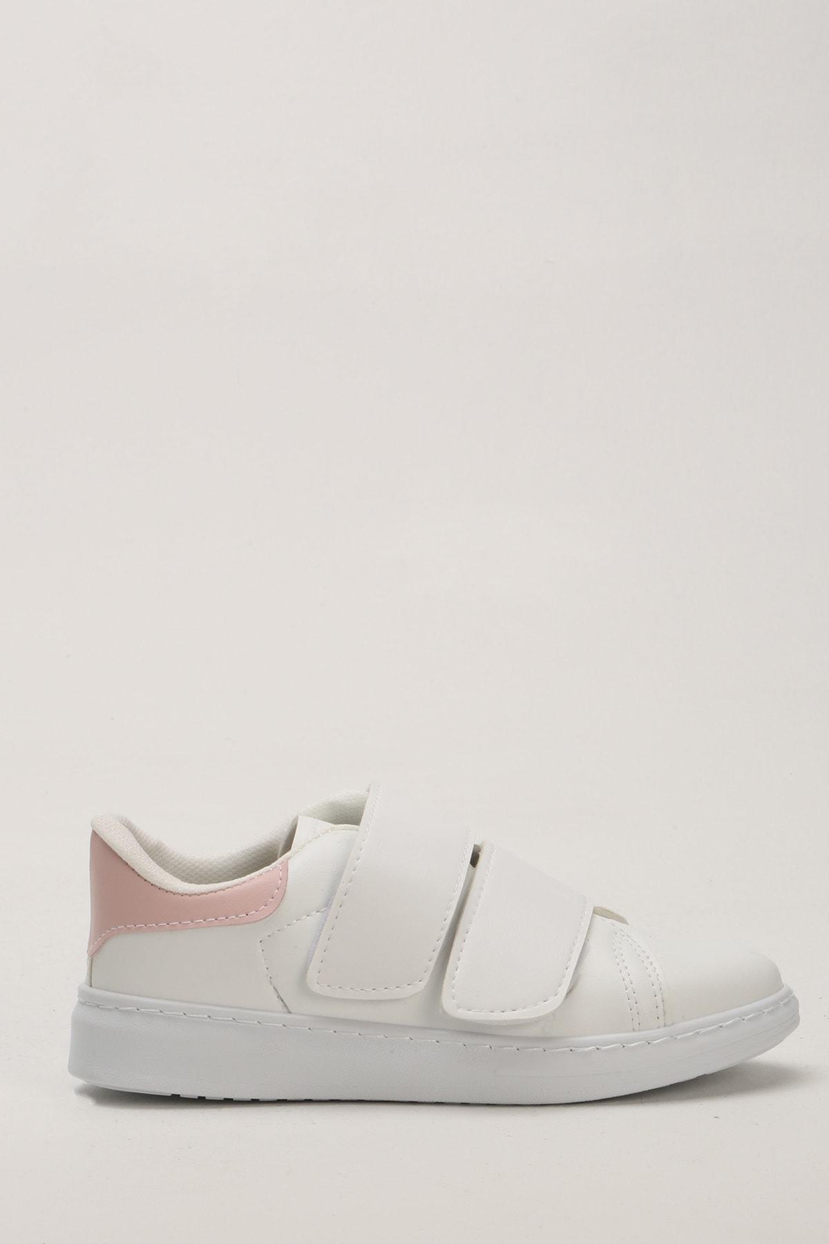 Ayakkabı Modası Beyaz Pudra Kadın Spor Ayakkabı M4000-19-101003R