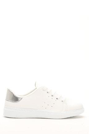 Ayakkabı Modası Beyaz Gümüş Kadın Ayakkabı M4000-19-110001R