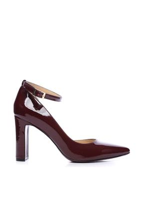 Kemal Tanca Bordo Kadın Vegan Klasik Topuklu Ayakkabı 22 319 BN AYK