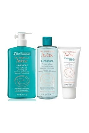 Avène Cleanance Gel Nettoyant 400 ml + Cleanance Cleansing Water 400 ml + Cleanance Mask 50 ml