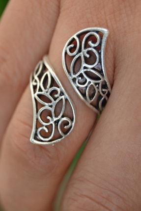 Stoneage Antik Gümüş Vintage Ayarlanabilir Sarmal Bayan Yüzük