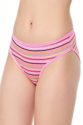 Tutku Kadın Çizgili Bikini Külot 12'li Paket