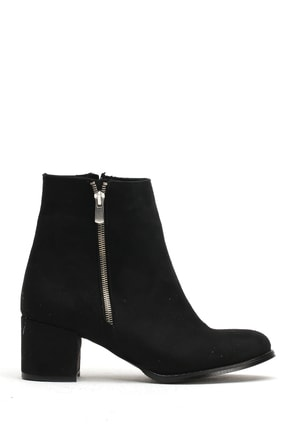 Ayakkabı Modası Siyah Süet  Kadın Bot 5007-20-000310
