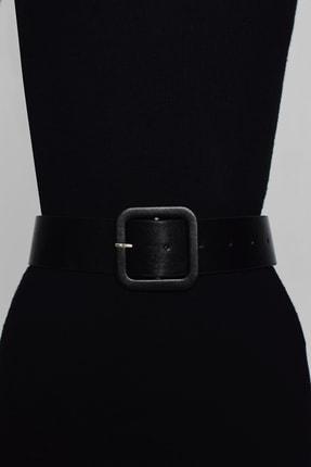 Cool & Sexy Kadın Siyah Kare Tokalı Kemer BE308