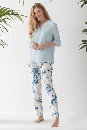 CATHERINE'S Kadın Mavi  Pijama Takım
