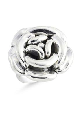 Tevuli Kadın Gümüş 925 Ayar Taşsız Yüzük R84135