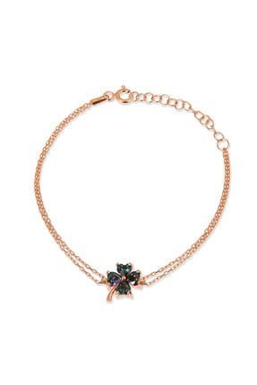 Coquet Kadın Rose Gold Mistik Yonca Gümüş Bileklik 19G9U08C1811