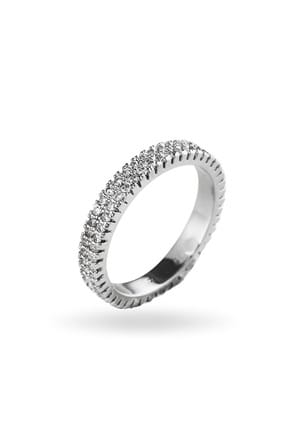 Merano Design Kadın Gümüş Tamtur Yüzük BYM382F