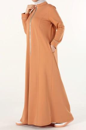 ALLDAY Kadın tarçın fermuarlı Elbise