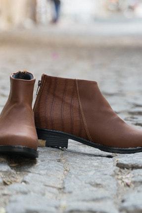 Ayakkabı Modası Taba Kadın Bot 5001-19-116002