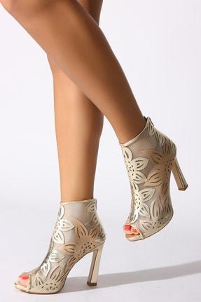 Rovigo Altın Kadın Klasik Topuklu Ayakkabı 0388958-05