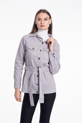Pitti Kadın Gri Gabardin Ceket 60354