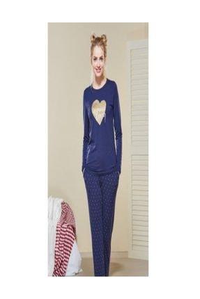PJS PİJAMA Kadın Uzun Kollu Nakışlı Pijama Takımı 20484
