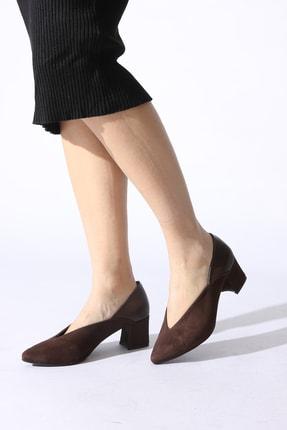 Rovigo Kahve Kadın Klasik Topuklu Ayakkabı 81152-02