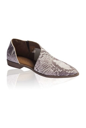 Bueno Shoes Kahve Yılan Bayan Ayakkabı