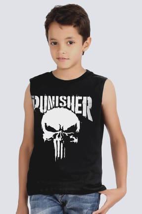 Rock & Roll34 Cezalandırıcı Siyah Kesik Kol   Kolsuz Kız Erkek Uniseks Çocuk T-shirt   Atlet 1M1SB103FS