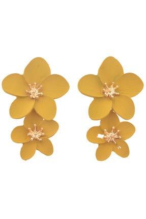 Pelin Aksesuar Sarı Çiçekler  Küpe