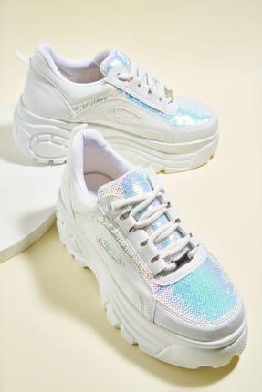 Bambi Beyaz Çok Renkli Kadın Sneaker H0674910209