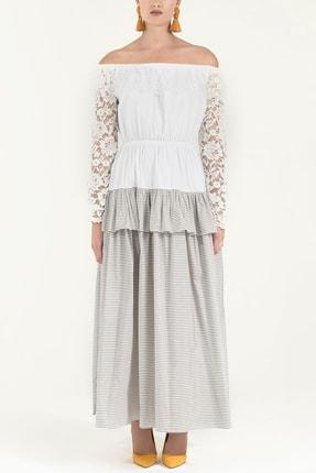 Societa Dantelli Ve Valonlu Elbise Beyaz 92249