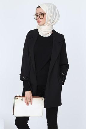 Deppoist Kadın Siyah Kol Detay Ceket P00012053