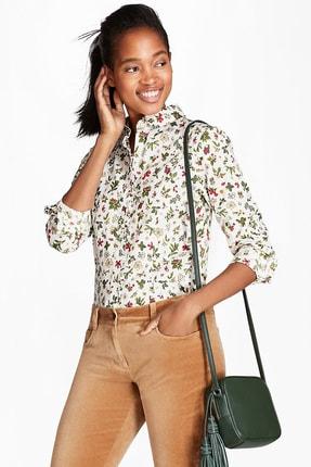 Brooks Brothers Kadın Ekru Çiçek Desenli Gömlek 1-00092441