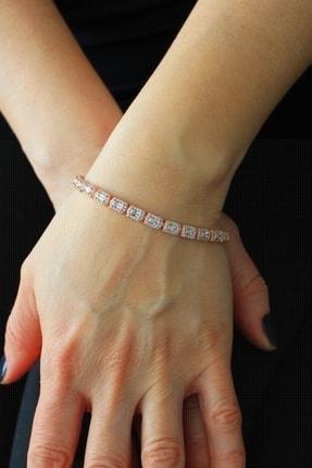 Bella Gloria Baget Su Yolu Rose Gümüş Bileklik (TGB0278)
