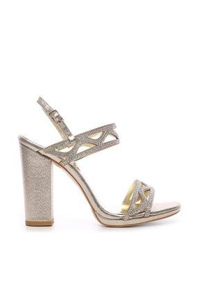 Kemal Tanca Sarı Kadın Vegan Abiye Ayakkabı 592 19618-1 BN AYK Y19