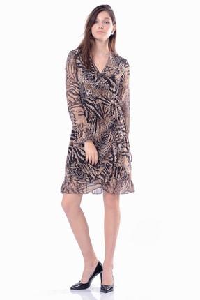 İroni Kadın Siyah Volanlı  Blazer Elbise 5295-1328