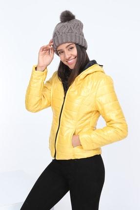 Patiska Kadın Sarı Şişme Mont PTSK-7155