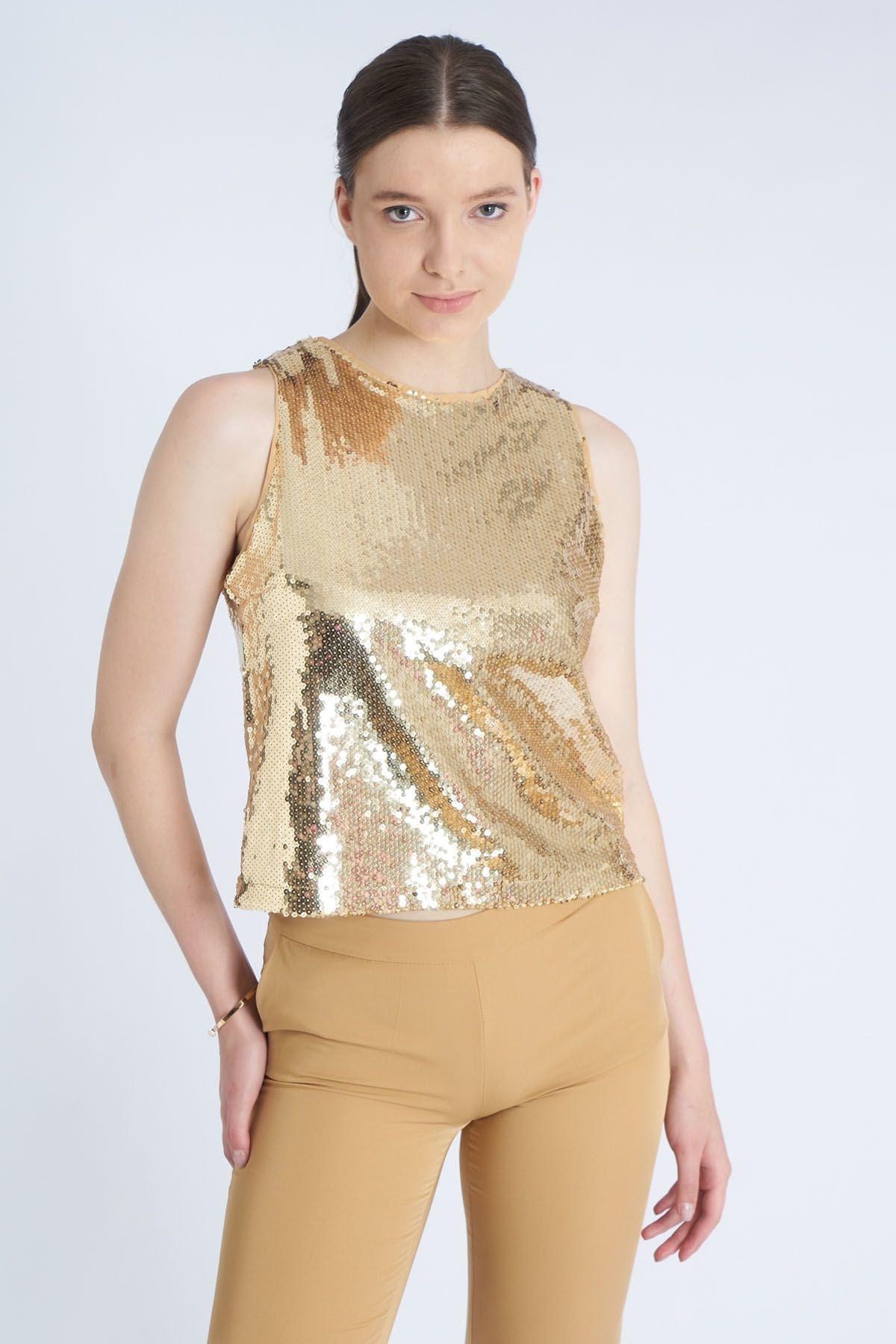 Home Store Kadın Gold Bluz 19114000588