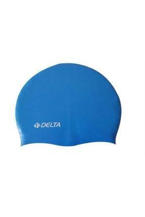 Delta Silikon Bone 10 Adet Yüzücü Havuz Deniz Bonesi (Düz Renk)
