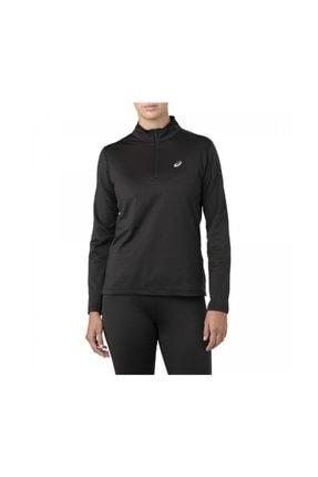 Asics 2012a034 Silver Ls 1/2 Zip Uzun Kollu Siyah Kadın Giyim
