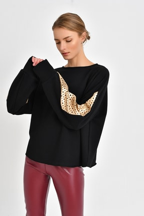 Quincey Top Star Sweatshirt  Siyah Dore BDY2518