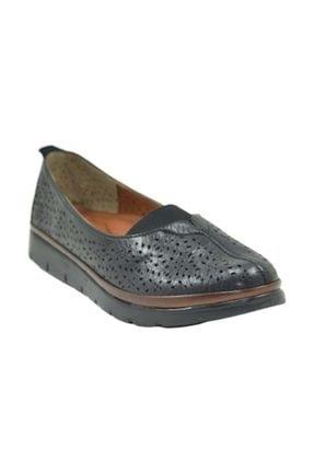 Punto 393002  Hakiki Deri Kadın Günlük Ayakkabı -  - Siyah - 39