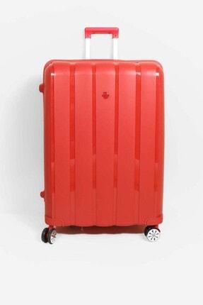 Fast Step Kırmızı Unisex Büyük Boy Bavul 897cabavulb