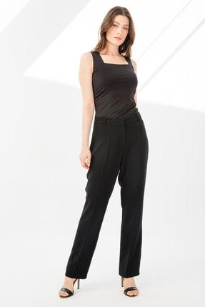 Ekol Kadın Bol Paça Krep Pantolon 6052014 Siyah