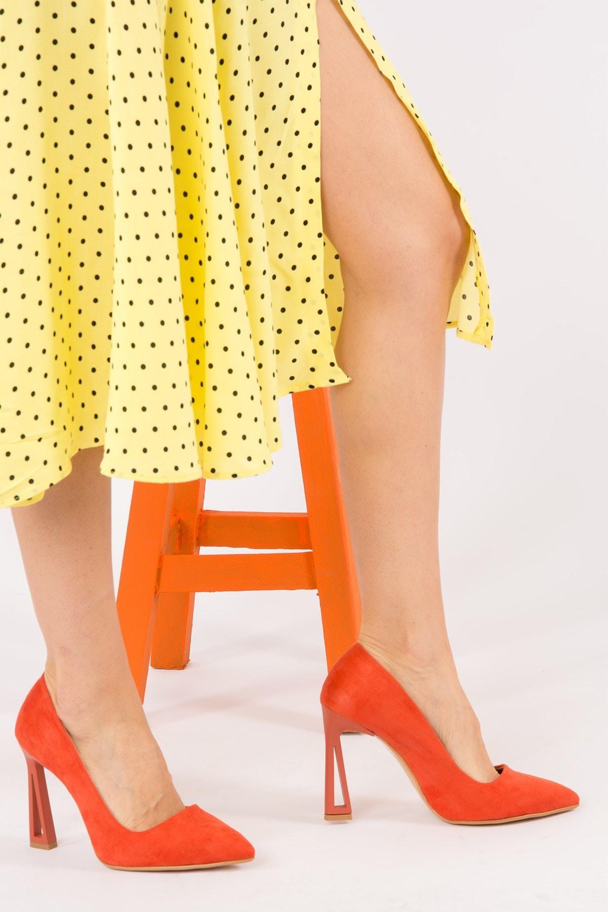 Fox Turuncu Kadın Topuklu Ayakkabı H922252202
