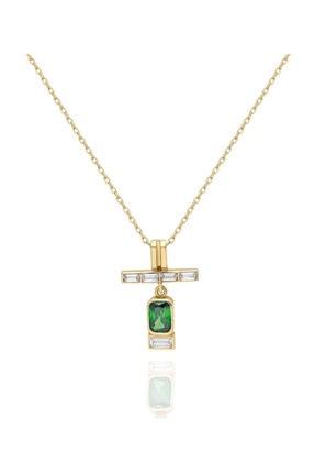 Pink Gold Store A Little Sparkle With Emerald 14 Ayar Altın Kolye