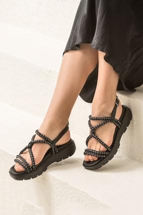 Elle AWENA Siyah Kadın Sandalet