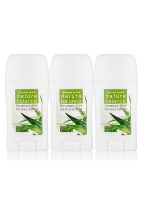 Hunca Nature Balance Deodorant Stick 50 ml - Aloe Vera & Yeşil Çay*3 Adet Avantajlı Paket